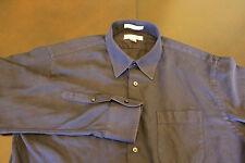 John W Nordstrom Blue Mini Line Long Sleeve Button Up 100% Egyptian Cotton 17-35