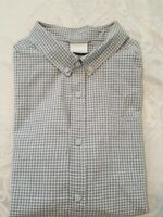 Columbia Omni-Shade Gray Checks Plaid Short Sleeve Button Down Collar Shirt XL