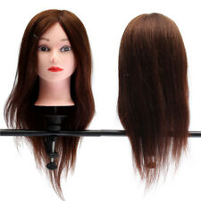 20inch Professional Real Hair Model Practice Hairdressing Training Head Mannequi