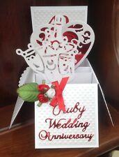 Ruby wedding anniversary pop up