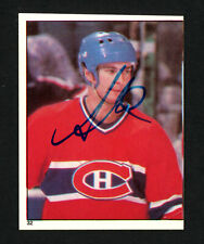 Steve Shutt Autographed Signed 1982-83 Topps Sticker Card #32 Canadiens 154118