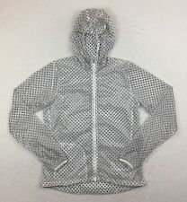 Nike White Dots Cyclone Vapor Lightweight Running Jacket Women's Medium M 451398