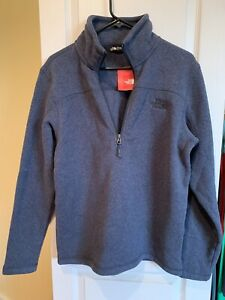 Mens North Face Quarter Zip Sweater Small NWT Navy Blue