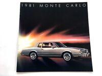 1981 Chevrolet Chevy Monte Carlo 16-page Car Sales Brochure Catalog  Turbo T-Top