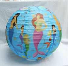 Mermaid Lightshade - Child's Room / Nursery / Playroom  - Blue -  BNIB