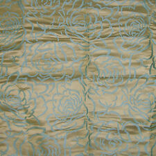 SCALAMANDRE PHOEBE SILK DAMASK FABRIC 5 YARDS Turquoise