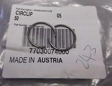 Genuino KTM EXC-F250 SX-F250 Pistón Anillo De Retención Elástico Seeger Anillo (par) 77030074000
