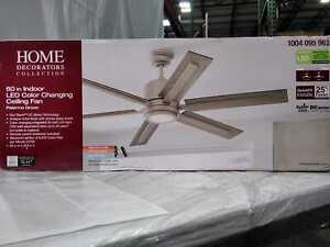 Palermo Grove 60'' Integrated LED Indoor Antique Nickel  Ceiling Fan by HDC