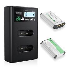 Powerextra 2Pack Np-Bx1 Akkus+Charger für Sony NP-BX1/M8 DSC-RX100 II III DE