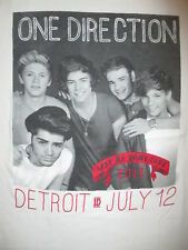 One Direction Detroit Concert T Shirt July 12 2013 Only Take Me Home Tour Petit