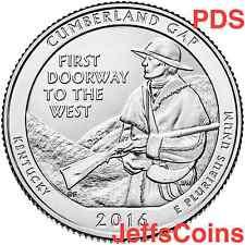 2016 PDS Cumberland Gap National Historical Park QUARTER SET P D S Mints 16abd