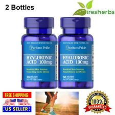 Hyaluronic Acid 100 mg Supports Joints Health Lubricate Joint Supplement 60 Caps