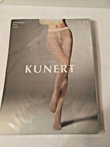 Kunert fashion Semi Opaque Matt Tights Floral Pattern Large ivory  MSRP $24.00