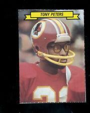 1983 Topps TONY PETERS Washington Redskins Sticker Box Card