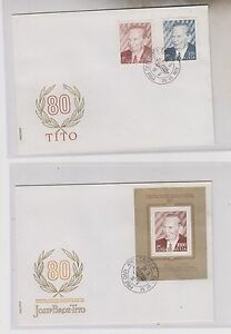 YUGOSLAVIA , 1972,TITO,not issued sheet and set on FDC covers,RR