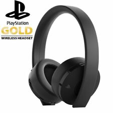 Gaming Headset Gold Wireless Sony PlayStation 4 PSVR PS4 2018 7.1 Sound PC MAC