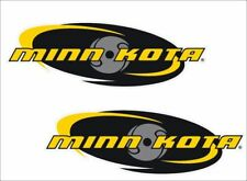 "MINN-KOTA Fishing / PAIR / 6"" OVAL Vinyl Vehicle Boats Tackle Graphics Decals"