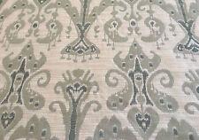 Kravet Light Green Beige Ethnic Woven Ikat Upholstery Fabric 17.0 yd (31446-135)