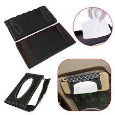 PU Leather Tissue Box Car Sun Visor Napkin Box Paper Holder Cover Towel