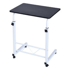 US Adjustable Rolling Laptop Desk Over Sofa Bed Tray Height Notebook Table Stand