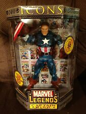 Marvel Legends Icons Captain America Unmasked Toy Biz 2006
