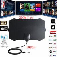 200 Mile Range Indoor Antenna TV Digital HD Skywire Digital HDTV 1080p Antenna