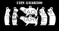 "12"" Steel Shooting Targets - 3/8"" Ar500 Prairie Dog Animal Silhouette Hanger 6pc"