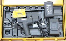 Rems ax Press 30 nº 573018 bateria axialpresse 22v axial druckhülsen quetschhülsen