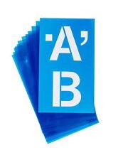 Westcott Plastic Die-Cut Capital Letter Stencil, 4 Inches, Clear Blue