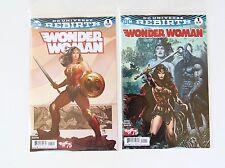 Wonder Woman #1 Variant & Regular Cover Set- NM & 1st Edition - DC Comic Rebirth