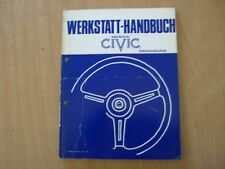 Ergänzungs Werkstatthandbuch Honda CIVIC 1200 / 1300 Hatchback Sedan Kombi 1983