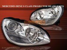 2000-2005 MERCEDES-BENZ S CLASS SEDAN 4DR PROJECTOR HEADLIGHTS CHROME