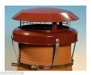 Colt Top 2 Chimney Pot Cowl Terracotta,  Anti Down Draught, Stove Gas - CT50