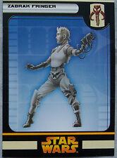 Star Wars Minatures Card Zabrak Fringer   A1661