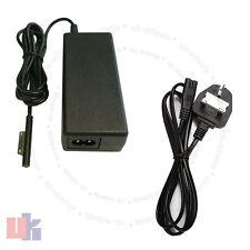Pour tablette chargeur adaptateur pour microsoft surface pro 3 1625 avec uk câble