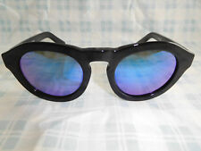 Diff Eyewear Dime BK-BU02P Sunglasses Black Handmade Acetate Polarized