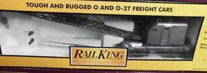 ✅MTH RAILKING CUSTOM NORFOLK WESTERN AMERICAN CRANE CAR! O GAUGE BOOM TRAIN MOW