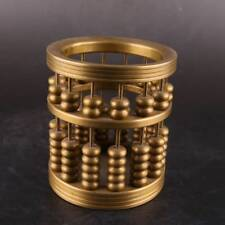 China Antique handmade bronze Cylindrical Abacus beads Statues Decoration