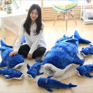 Whale shark toy plush soft hair doll pillow animal ocean whale shark Cute gift