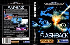 Flashback UK PAL Sega Megadrive Replacement Box Art Insert Case Reproduction