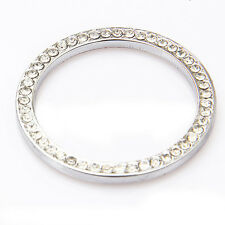 1*Silver Auto Car SUV Decorative Accessories Button Start Switch Diamond Ring