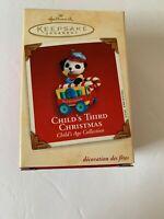 2002 Child's THIRD Christmas Hallmark Keepsake Ornament QX8336  New