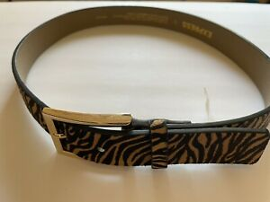 Express Leather Belt, Animal Print