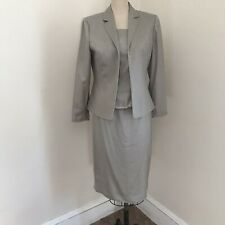 Adrianna Papell Skirt Suit Shell Gray Beaded Formal evening Mother Bride 8P
