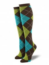 Socksmith Argyle Heather Brown Women's Knee High Sock (6-10)