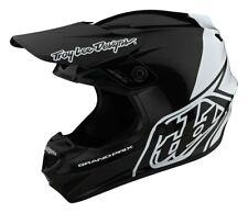 Troy Lee Designs GP Block Motocross MX Offroad Race Helmet Black White Adults