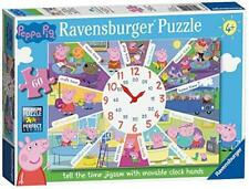 Ravensburger Peppa Pig - Tell the Time Clock Puzzle, 60pc Jigsaw Puzzle 9510