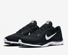 NEW Womens Nike Flex Trainer 6 Running Shoes 831217-001 Size 12 Black/White