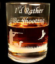 More details for engraved shooting glass whisky drinks  tumbler, farming shooting country gift