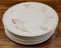 "* Set of 8 * Villeroy & Boch China FLOREA -- 10-1/2"" Dinner Plates Plate Set"